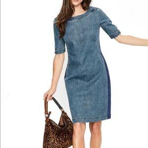 Boden denim contrast dress size 8 new!